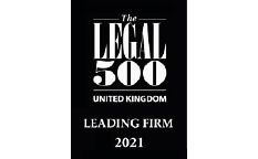 New Legal 500 Logo 2021 for Leading Firm